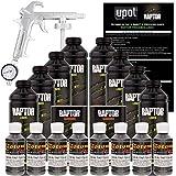 U-Pol Raptor Charcoal Metallic Urethane Spray-On Truck Bed Liner Kit w/Free Spray Gun, 8 Liters