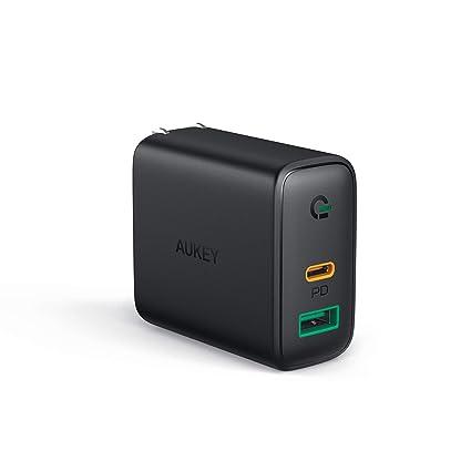 Amazon.com: AUKEY Cargador USB C con Detector Dinámico ...