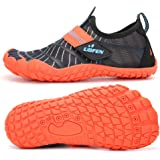 UBFEN Water Shoes for Kids Boys Girls Aqua Socks Barefoot Beach Sports Swim Pool Quick Dry Lightweight Toddler Little…
