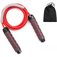 Premium Jump Rope tangle free, Skipping rope jumping Rope Soft non slip with Carrying Bag : Exercise Workouts Speed Endurance Training physical fitness, Adjustable Cotton Rope: 8mm 3 meter