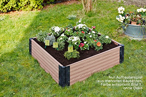 Gartenfreude piastrelle everfloor wpc da giardino misto plastica