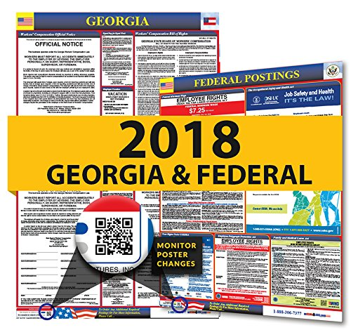2019 Georgia State & Federal Labor Law Posters for Workplace Compliance hot sale