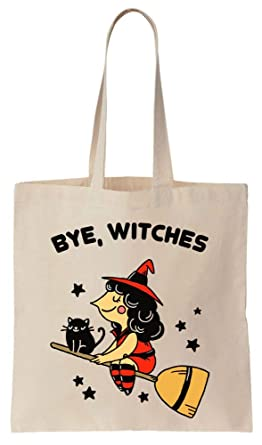 amazon com bye witches pretty which flying on her broom cotton