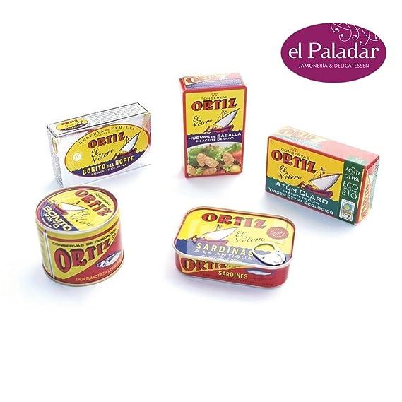 2 Packs Conservas Gourmet Pack, sardinas, bonito del norte, huevas de caballa,