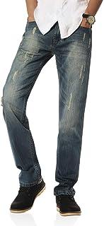 802R Series Uomo Casual Pantaloni Straight Cut Fit Jeans Retro Giovane Jeans Moda Casual Stretch Jeans