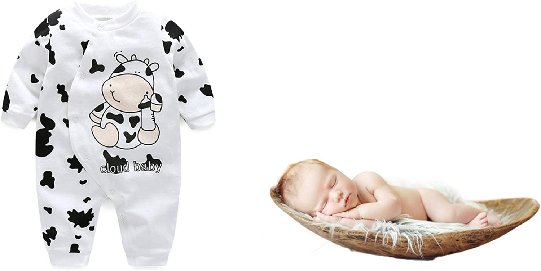 Lemonkids/® Baby Onesies Unisex Clothes Cow Print Long Sleeve