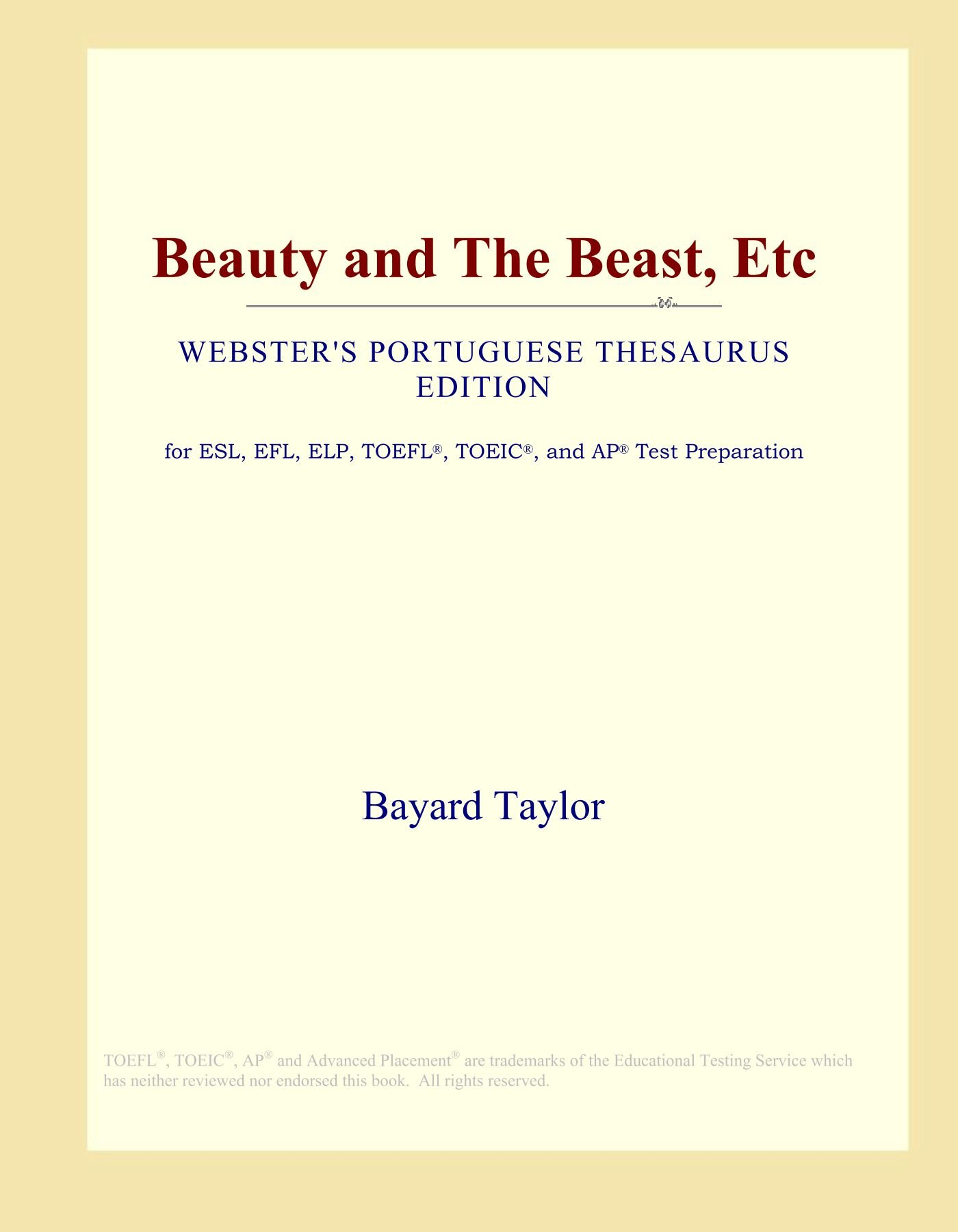 Download Beauty and The Beast, Etc (Webster's Portuguese Thesaurus Edition) pdf