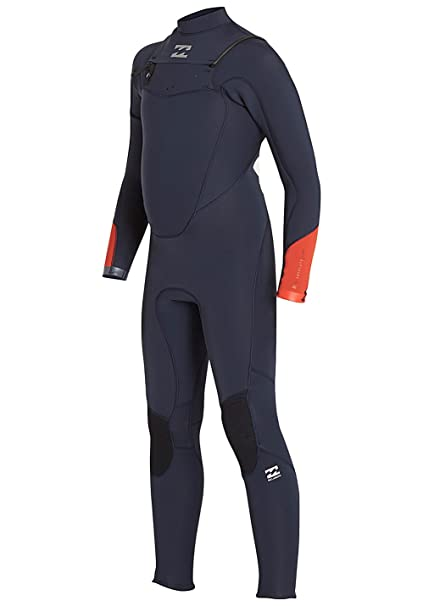 4d7cc28243 Billabong 2017 18 Boys Absolute Comp 4 3mm Chest Zip Wetsuit Slate Blue  F44B13