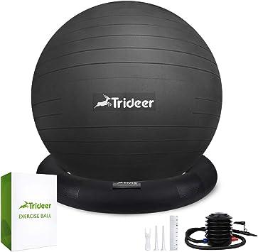 Amazon.com: Trideer pelota de equilibrio de 65 cm, asiento ...