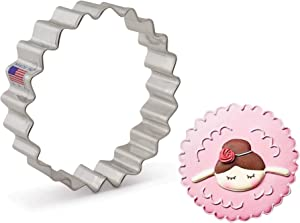 Ann Clark Cookie Cutters Fluted Circle Cookie Cutter, 4""