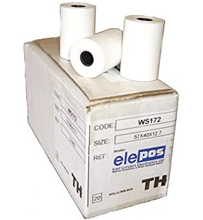 57 x 38 Thermal Credit Card Machine Till Roll Receipt Paper 1 Box 20 Rolls 57 x 38 x 12.7mm Core 57x40 Fit Ingenico ICT250