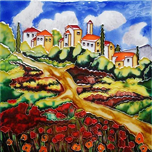 Kenneth Schilling Hand Painted Ceramic Tile Tuscany - Porcelain Tuscany Tile