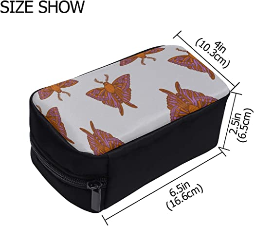 Bolsa de fin de semana para mujer Insectos de dibujos animados Polilla voladora Bolsa de cosméticos Cremallera para niños Bolsas de viaje Bolsa de cosméticos para niños Bolsas de cosméticos Estuche: Amazon.es: