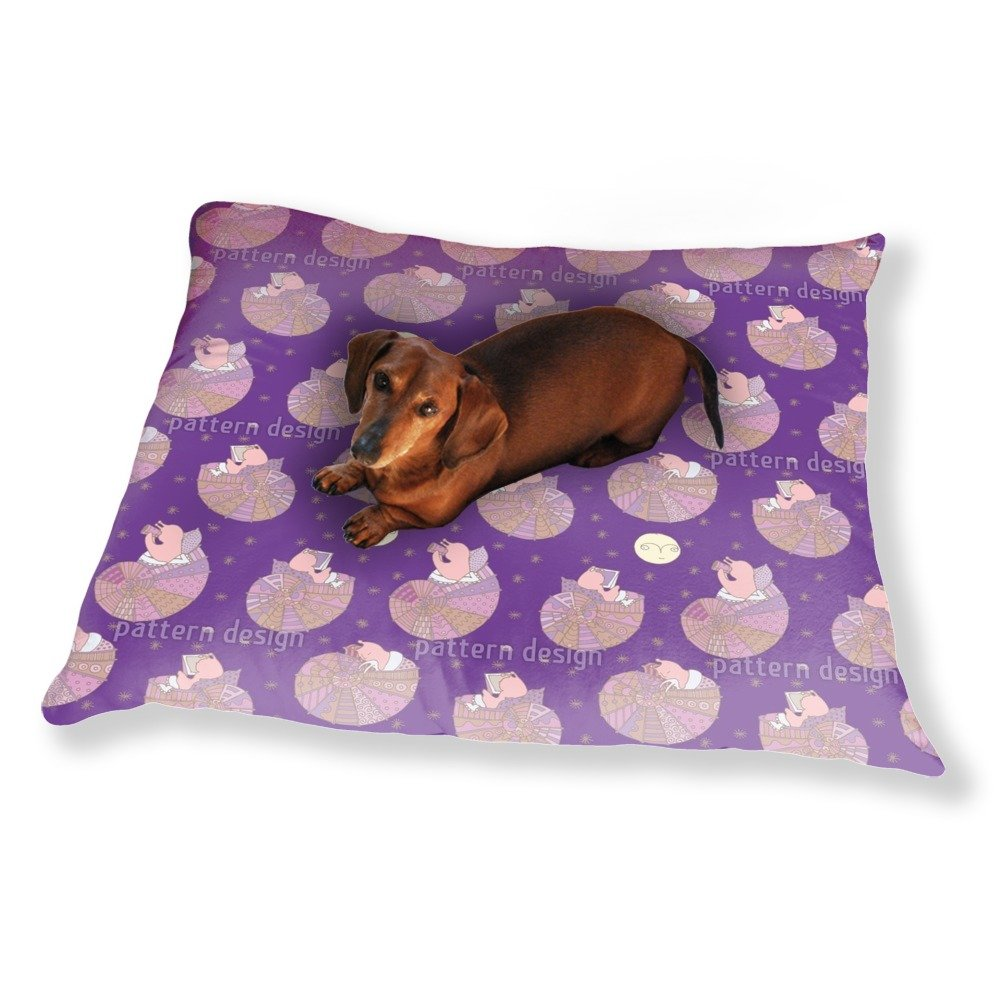 Miss Snail And The Man In The Moon Dog Pillow Luxury Dog / Cat Pet Bed
