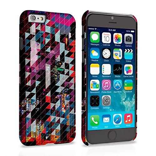 Caseflex iPhone 6 / 6S Hülle Blau / Rot Stadt-Geometrisch Muster Hart Schutzhülle