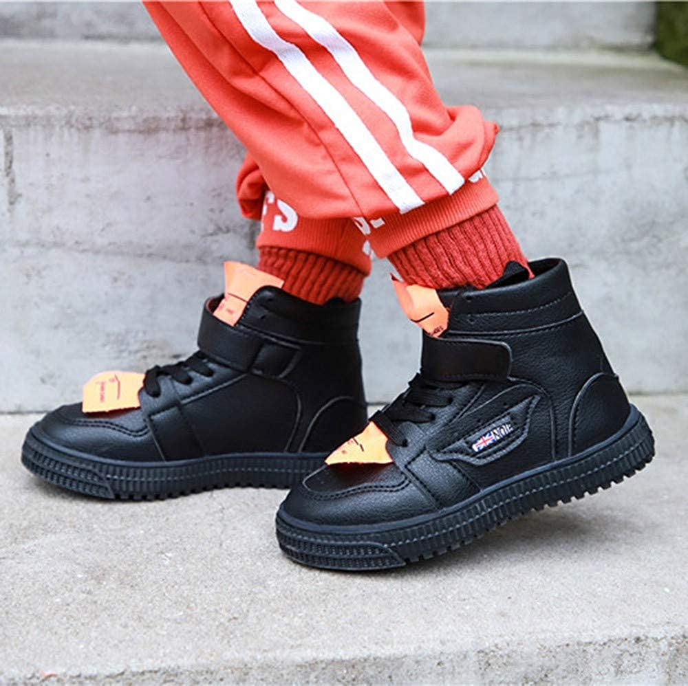 with Two Shoelaces Weiyun Autumn Baby Kid Girls Sport Running Boots Casual Shoes Boys and Girls High-Top Sports Shoes Boots Black
