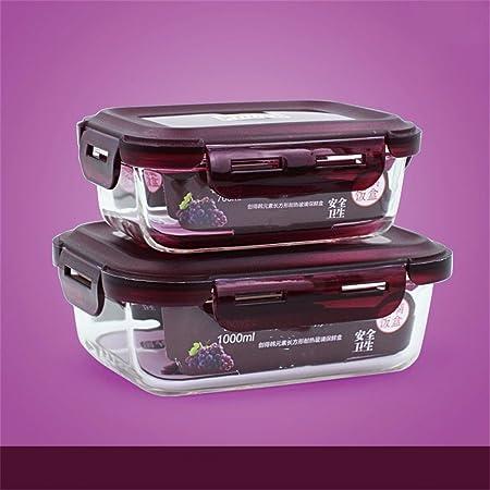 Vidrio resistente al calor box lunch Microondas Refrigerador caja ...