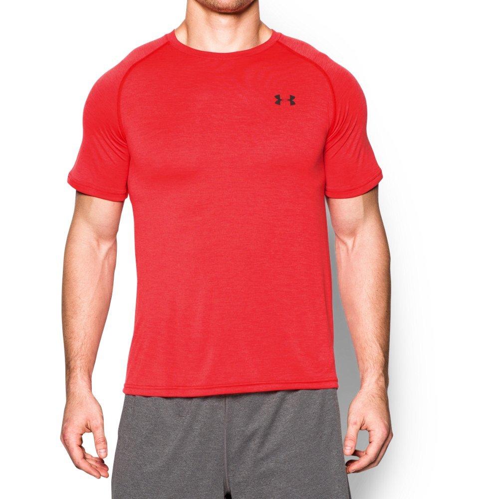 Under Armour Men's Tech Short Sleeve T-Shirt, Rocket Red /Black, Small