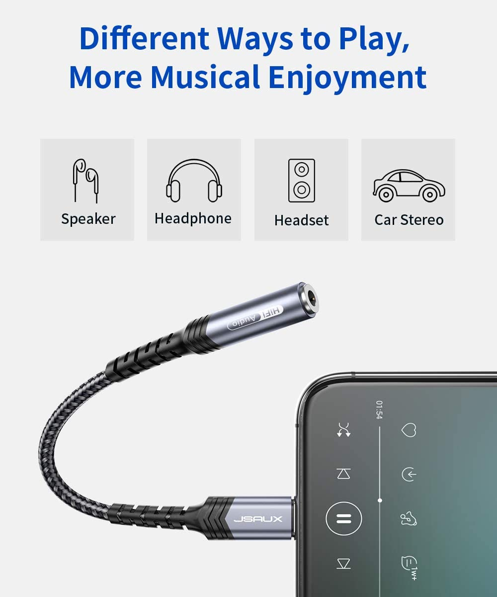 Jsaux Lightning To 3 5mm Headphone Jack Adapter Apple Elektronik