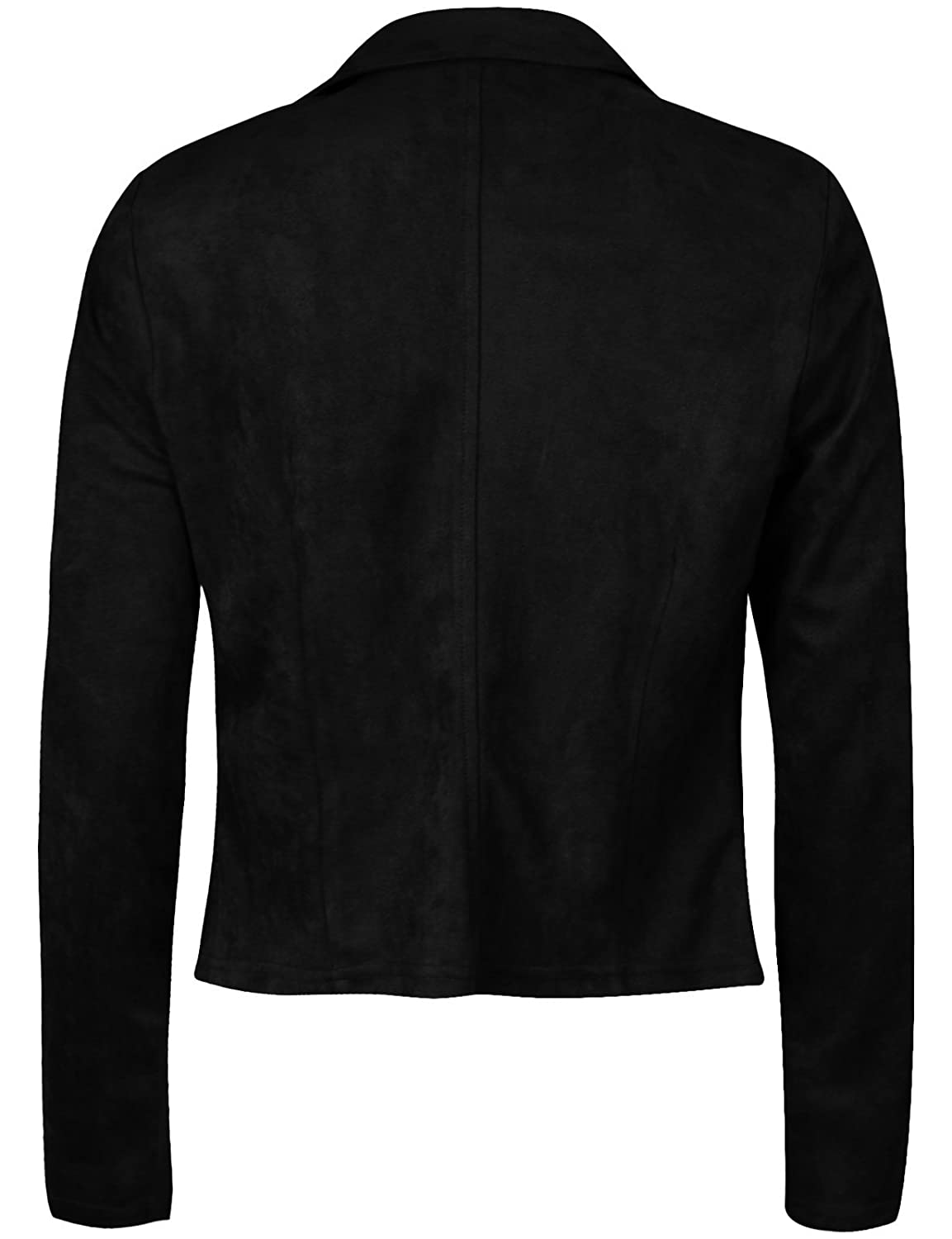 Michel Womens Slim Fit Rider Jackets Retro Lapel Zipper Bike Jacket