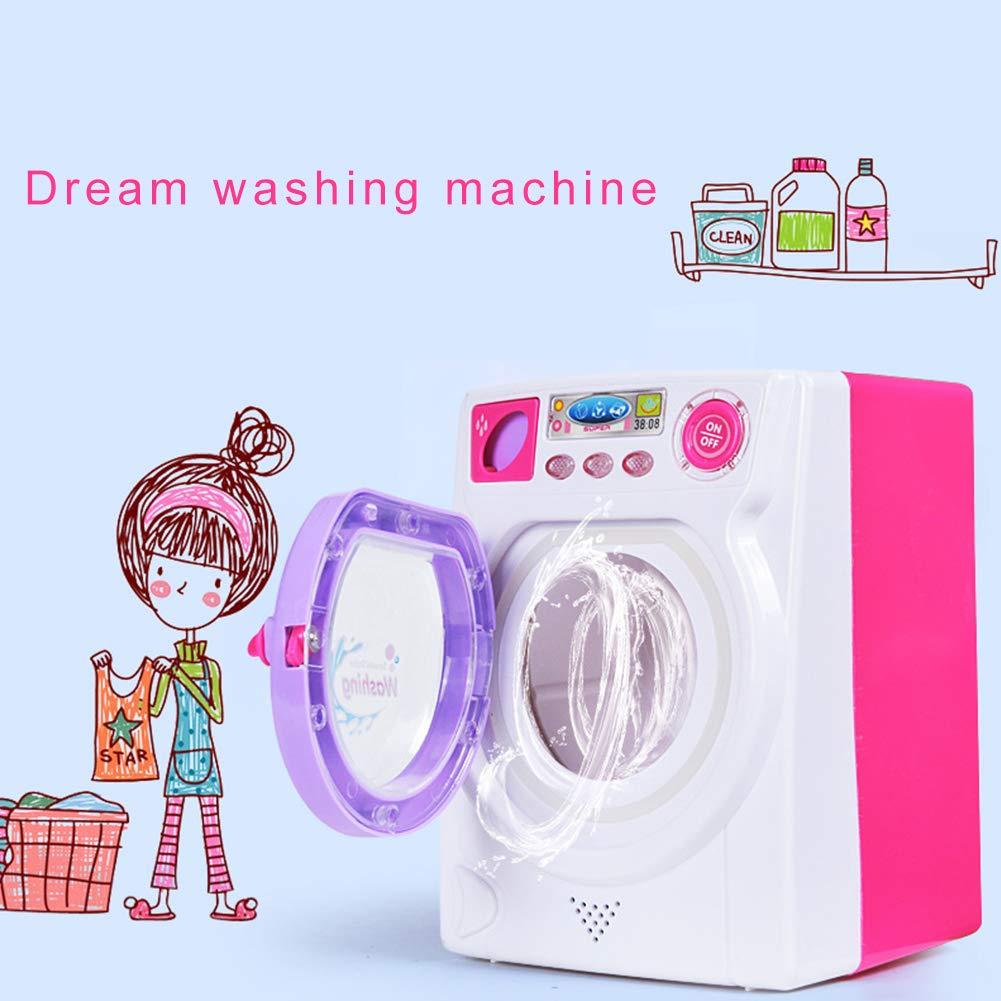 Lavadora juguete Simular Finge Juego M/áquina de lavar con rodillo giratorio real Luz y Sonido ni/ños Lavadora