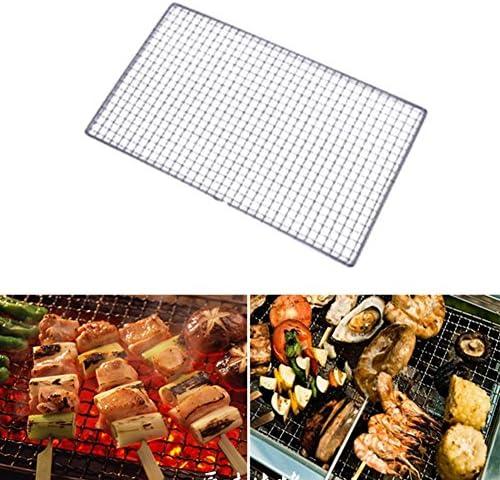 Yzki Filet de barbecue en acier inoxydable pour barbecue, grille de cuisson, grille de cuisson, Voir image, 25*40cm