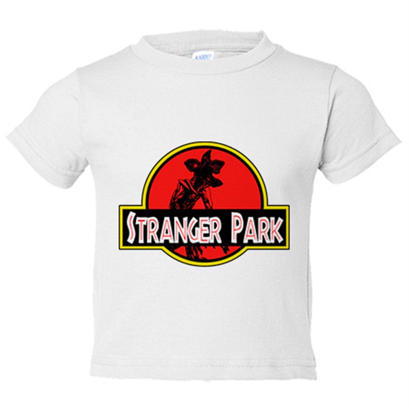 Camiseta niño Stranger Things Stranger Park Jurassic Park - Amarillo, 3-4 años: Amazon.es: Bebé