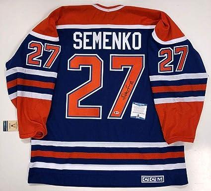 5fb57bef1 Dave Semenko Signed Jersey - Ccm Beckett Certified Coa B89468 ...