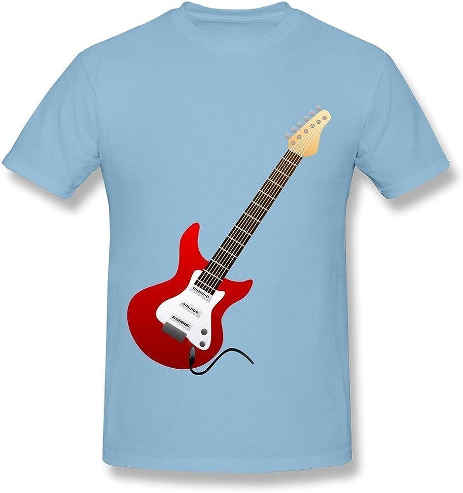 HD-Print Men's T-Shirt Electric Guitar Red Black