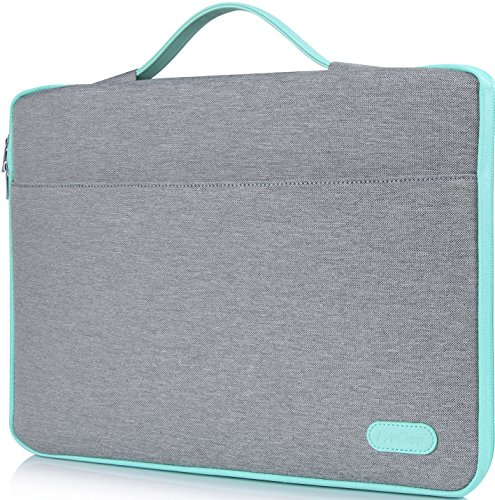 ProCase 14-15.6 Inch Laptop Sleeve Case Protective Bag, Ultrabook Notebook Carrying Case Handbag for 14 15 Samsung Sony Asus Acer Lenovo Dell HP Toshiba Chromebook Computers -Light Grey
