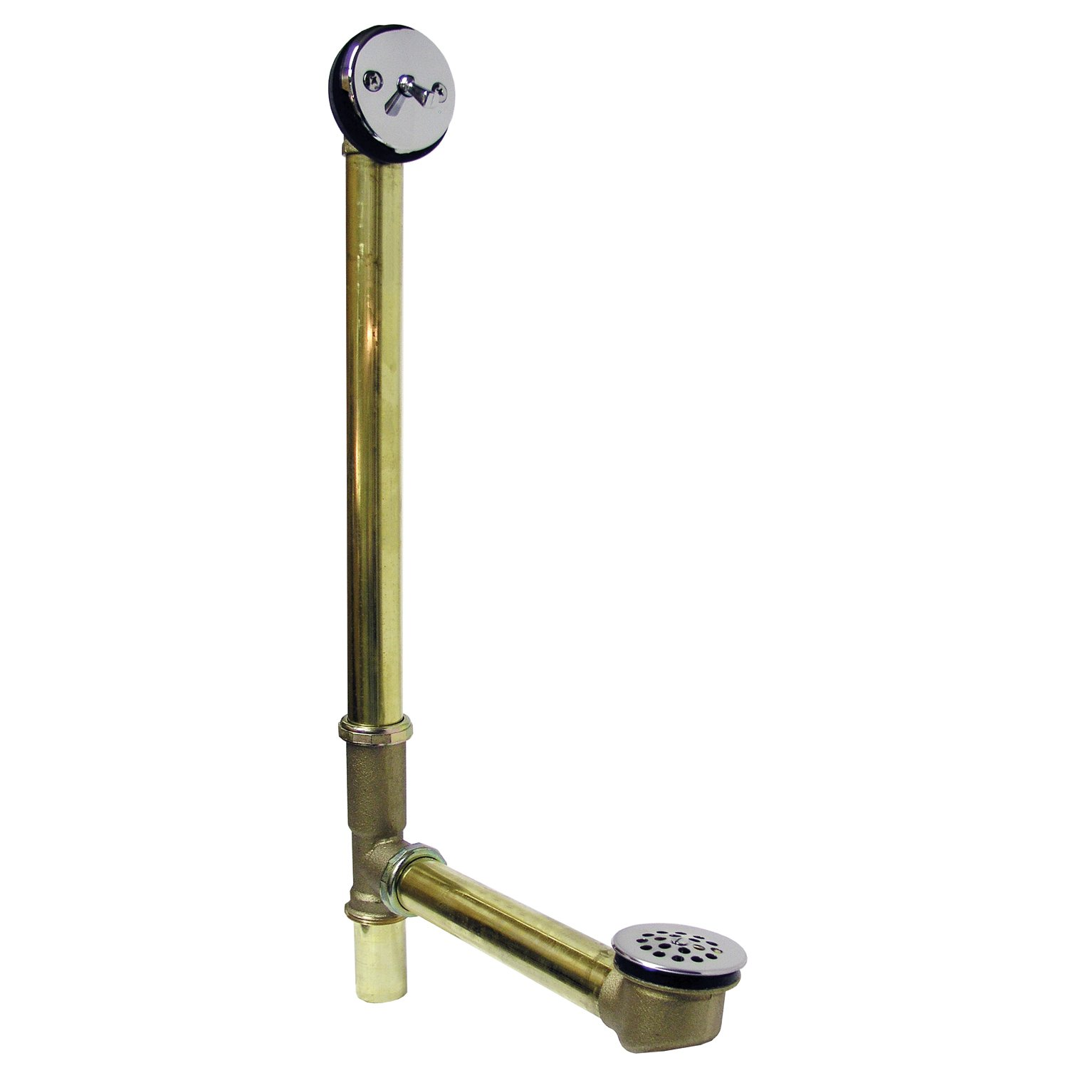 Watts 98CP Trip Lever 18-Inch 20-Gauge Brass Bath Drain, Chrome Trim by Watts