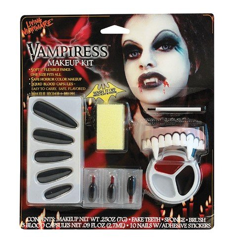 Vampiress 6pc Halloween Fancy Dress Make Up Kit (Vampiress Makeup)