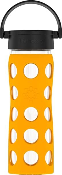 Lifefactory 350 ml Arancione Borraccia in vetro Orange