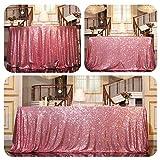 PartyDelight Sequin Tablecloth, Rectangular, 50''x80'', Fuchsia Pink