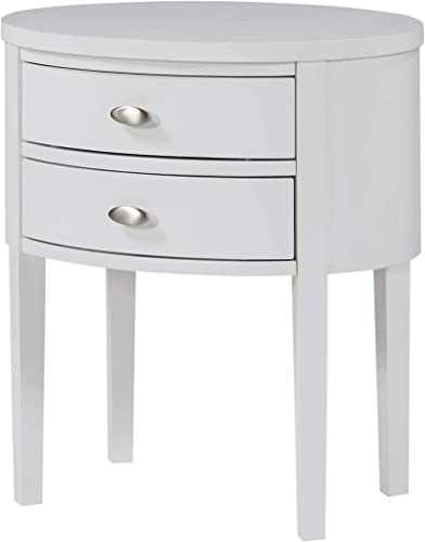 Greyson Living Valerie 2-Drawer Oval Nightstand