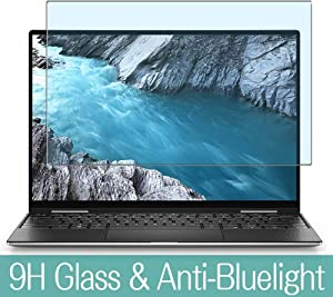 """Synvy Anti Blue Light Tempered Glass Screen Protector for Dell XPS 13 7000 (7390) 2-in-1 13.3"""" Visible Area 9H Protective Screen Film Protectors"""