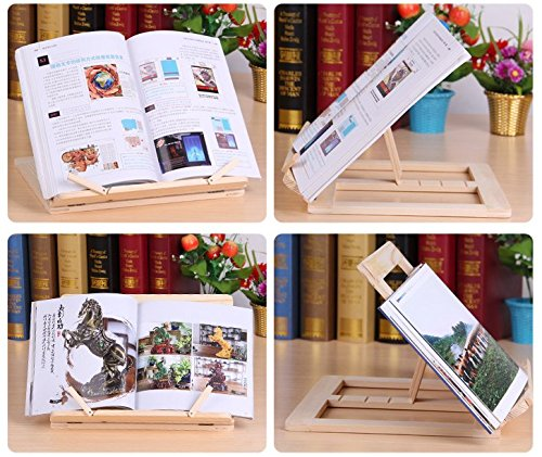 P2P@zita Wood bookstand laptop iPad book stand holder/Document stand holder Reading stand with 4 Adjustable Positions by P2P@zita (Image #2)