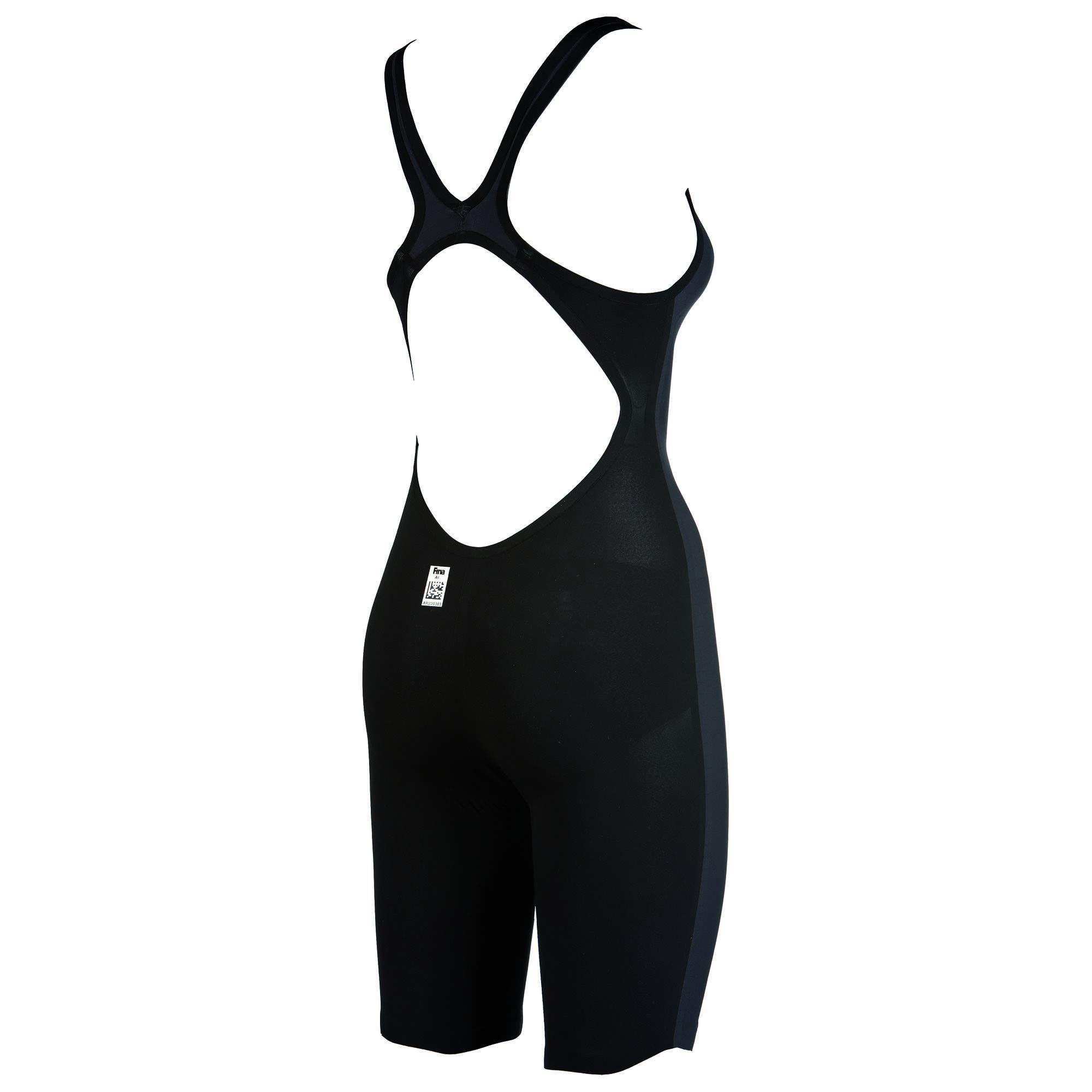 arena Powerskin Carbon Air FBSL Open Back Women's Racing Suit, Dark Grey / Black, 22