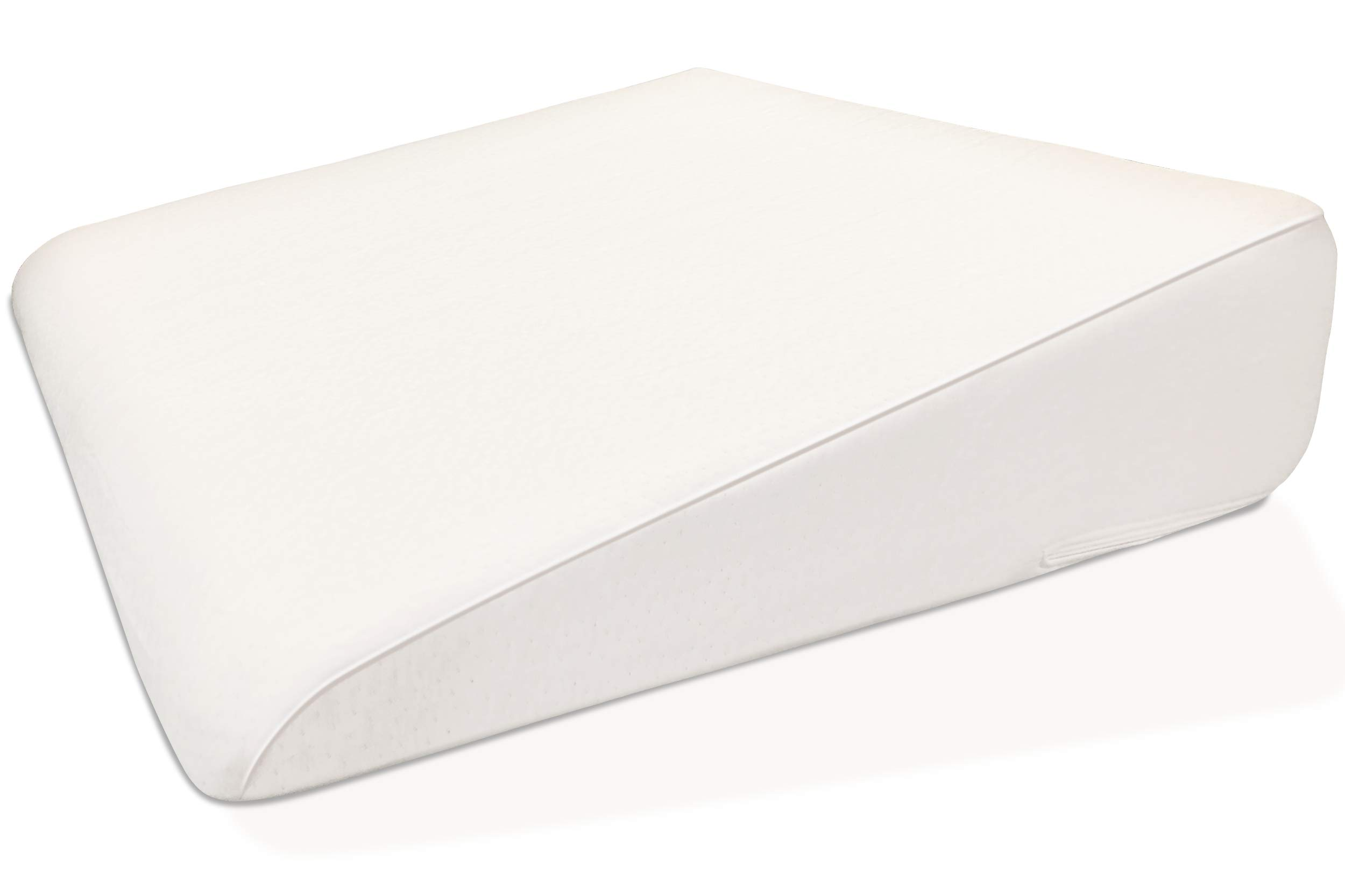 7.5'' Wedge Pillow For Acid Reflux - Dr. Recommended Height, Luxurious 2'' Memory Foam Pillow Wedge For Sleeping, GERD, Post Surgery, Heartburn, and Snoring - Washable Bamboo Cover (25''W x 26''L x 7.5''H) by Silverback Wedge Pillow