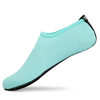 SENFI Unisex Water Skin Shoes Barefoot Aqua Socks for Pool Water Aerobics Exercise | Water Shoes