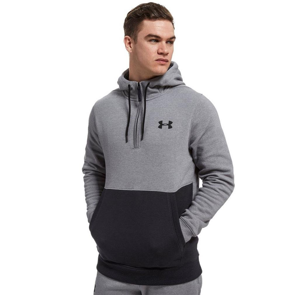 TALLA S. Under Armour Threadborne 1/2 Zip Hoodie Sudadera, Hombre