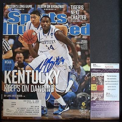 Michael Kidd Gilchrist Signed - JSA Authentication Sports Illustrated Uk Kentucky 2012 Mkg - Autographed College Basketball Memorabilia