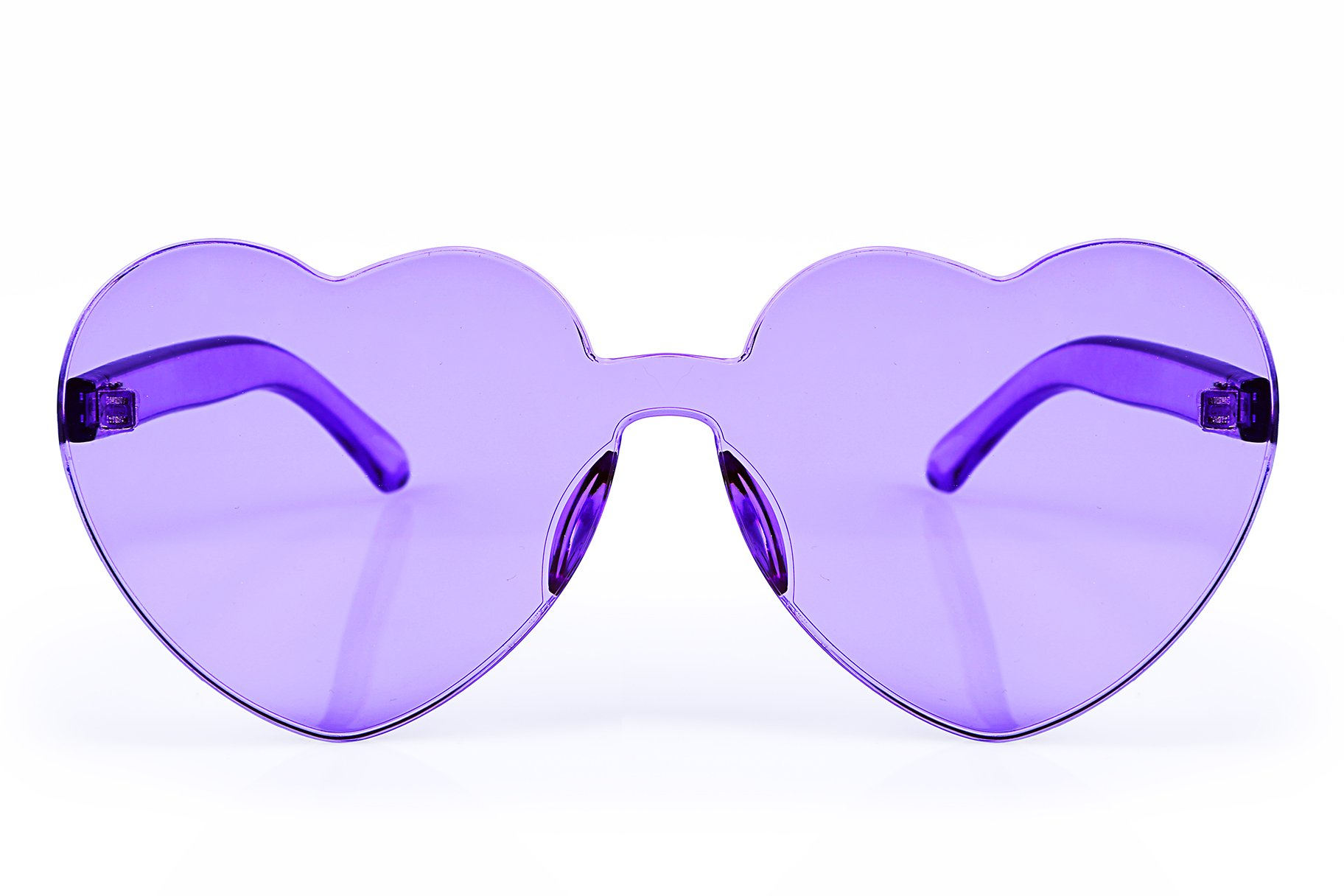 FEISEDY Heart Shaped Love Sunglasses Rimless One Piece Stylish Transparent Lens B2419 by FEISEDY (Image #2)