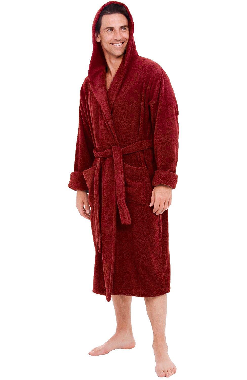 8a2c1eb66a Alexander Del Rossa Mens Turkish Terry Cloth Robe