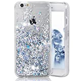 Phezen 3D Creative Shiny Quicksand Sparkle Heart Clear Liquid Glitter Hard Case for iPhone 7 Plus - Diamond:Silver