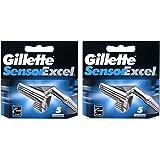 Cuchillas de recambio de cartuchos de 10cuchillas Gillette Sensor Excel–Recambios para cuchillas de afeitar (5x 2unidades)