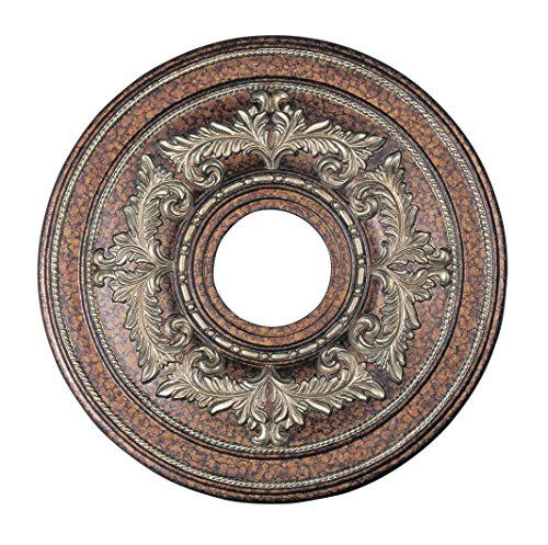 Livex Lighting 8205-64 Ceiling Medallion in Palacial Bronze with Gilded Accents by Livex Lighting