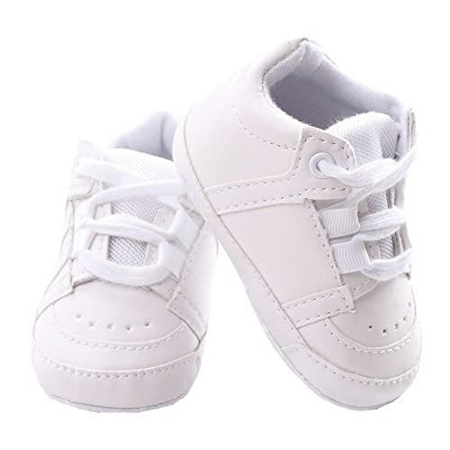 Baby Soft Sole Lace-up Sneaker Infant Casual Early Walking Shoes Crib Shoes