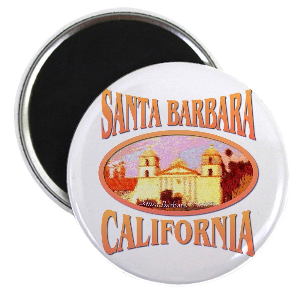 /5,7/cm Round Aimant CafePress/ aimant de r/éfrig/érateur aimant Bouton Style /Santa Barbara California/