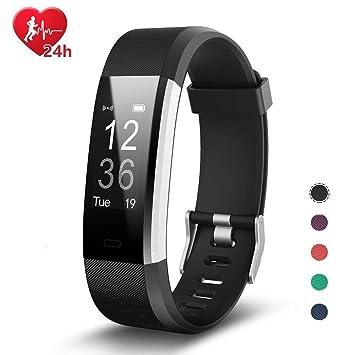 EFOSHM Pulsera de Actividad Inteligente Reloj Deportivo Mujer Hombre Fitness Tracker con Podómetro de Actividades Pulsómetro